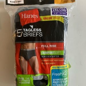 5 pairs Fruit of the Loom Men Briefs Fill Rise 2XL